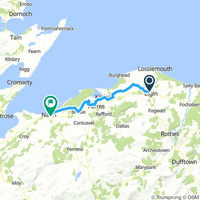 Elgin to Nairn