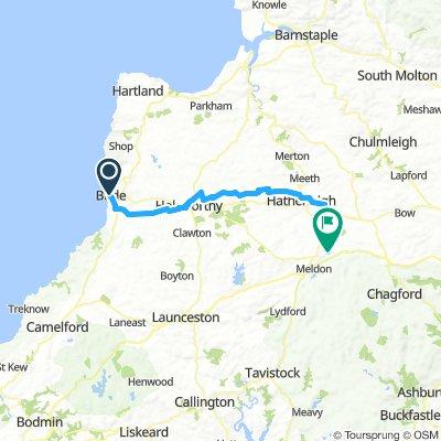 Cornwall -  Bude to Okehampton