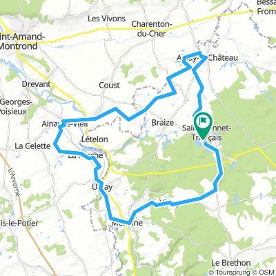 saint bonnet tronçais omgekeerd 50km