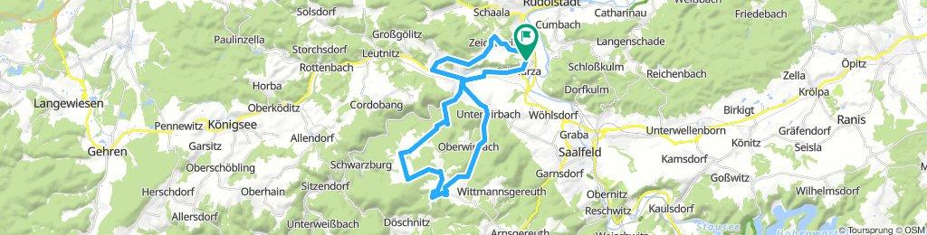 Von Schwarza zur Windmühle nach Dittrichshütte