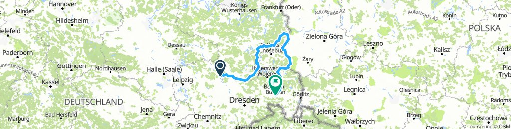 Mühlberg/Elbe - Schraden - Niederlausitz- Oberlausitz - Bautzen