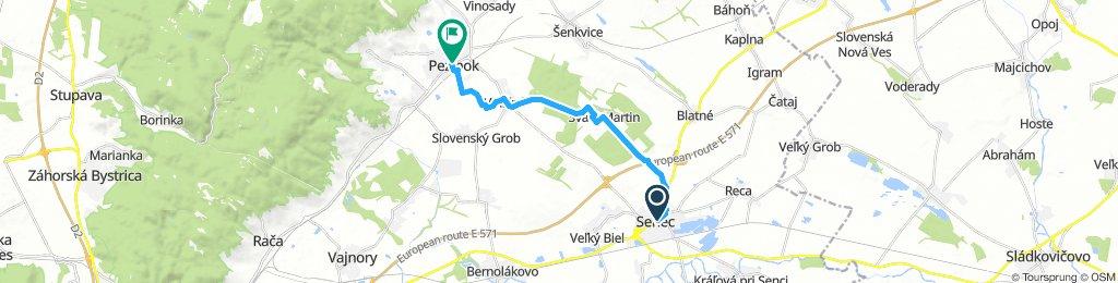 Steady Sunday Ride from Senec to Pezinok