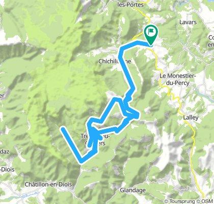 Col de Ménée, Col de la Lauzette Loop