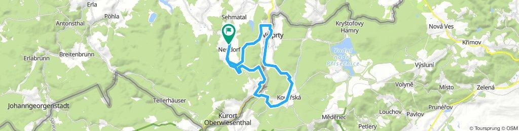 Kleine Grenzrunde 2, Neudorf - Kovarska - Bärenstein - Neudorf
