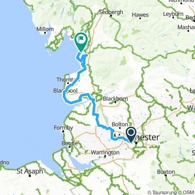 Manchester to Blackpool with extension to Morecambe