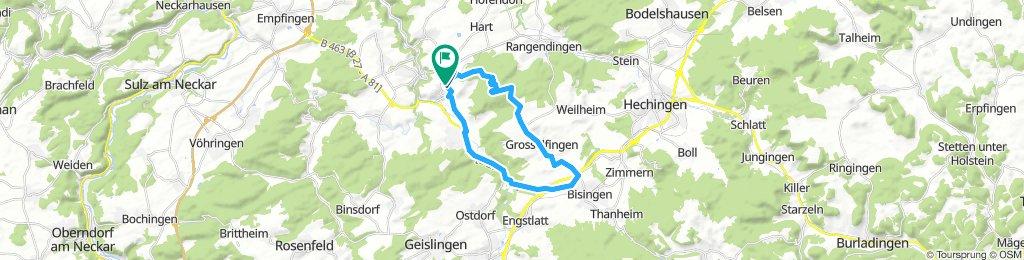 Stetten Wald Grosselfingen Steinhofen neben B 463 zurück.