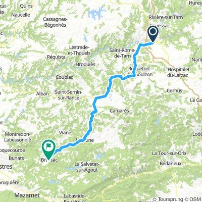 Day 6 -2nd part – Millau to Brassac - Stage 15