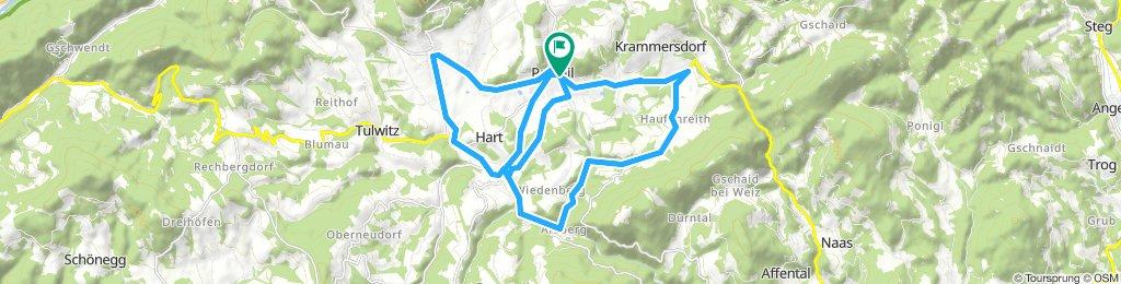 Passail - Fladnitz - Arzberg - Haufenreith - Passail - Arzberg - Passail