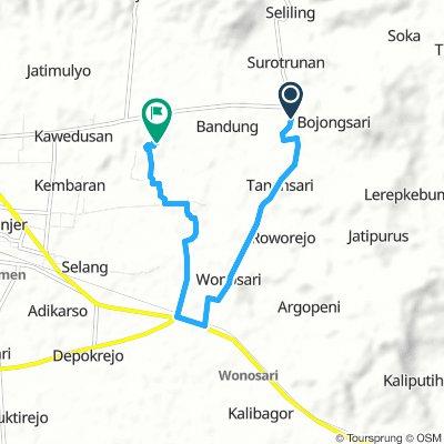Bojongsari - Wonosari - Kedungbener - Candiwulan