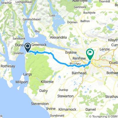 30 June Inverkip to Hotel