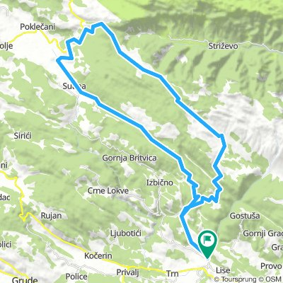 Bogodol - Blidinje - Mostar | Bikemap - Your bike routes