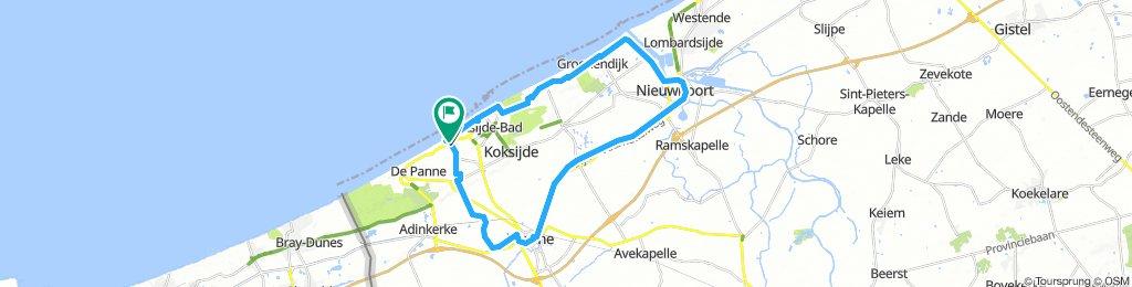 32km Home - Veurne - Nieuwpoort Circular