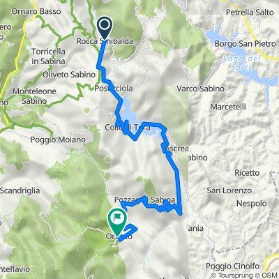 Rocca Sinibalda-Colle di Tora-Pozzaglia-Orvinio