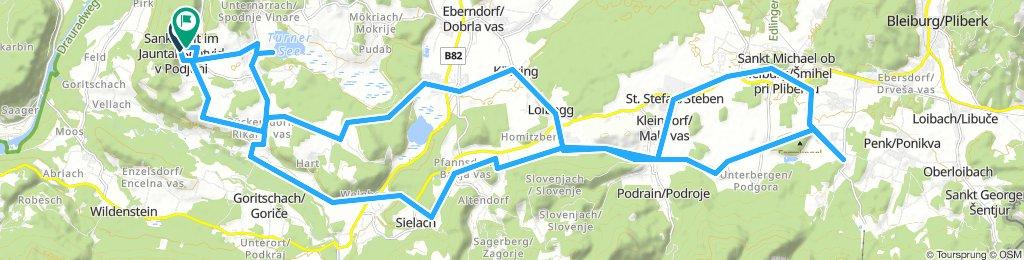 Podhorská etapa Jaunstein k lanovce Unterort.