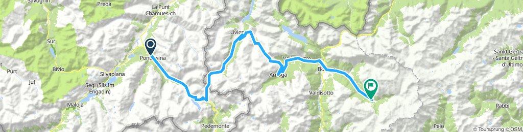 Gavia-Tour: 2. Etappe