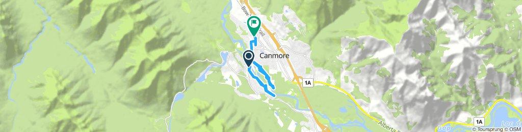 bike tour through Canmore