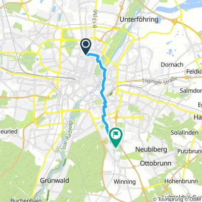 Extensive Early Morning Route In Munich