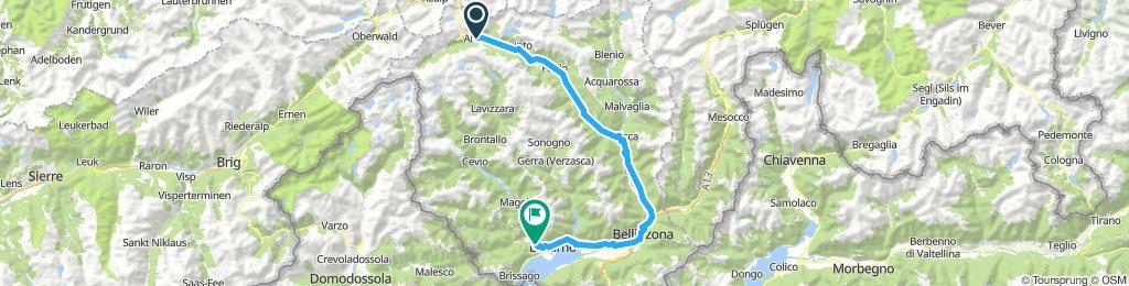 Airolo - Losone ( EUROVELO 5 )