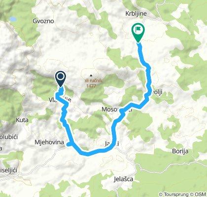 Vlaholje - Krbljine - Gvozno jezero