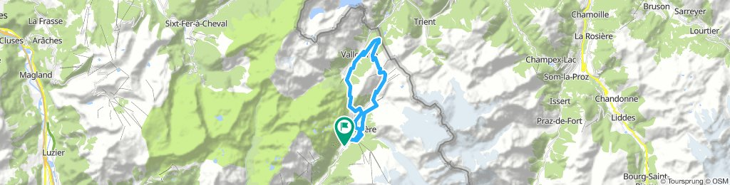Hurycana Blue track (col montets-vallorcine-col possettes-le tour-argentiere
