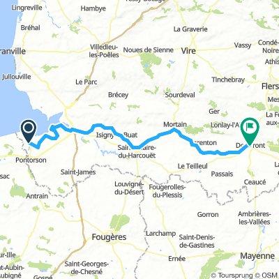 Mt St Michel - Domfont 85 km