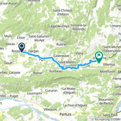 Roussillon - Reillanne bikeline