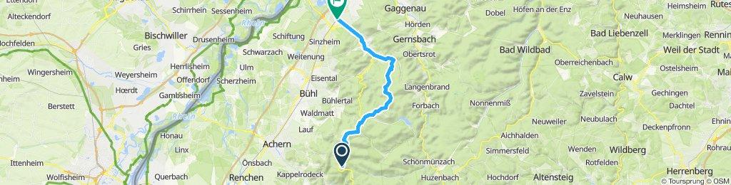 Hornisgrinde-Hundseck-Gaisbach-Baden-Baden-Oos