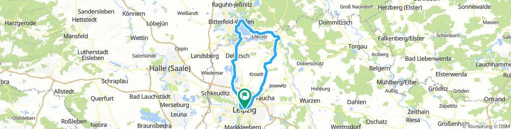 100 km Rundkurs Leipzih-Bad Düben-BitterfeldLeipzig