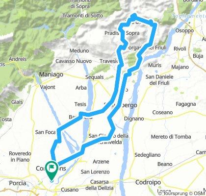 Clauzetto - Pielungo - Monte Prat - Spilimbergo