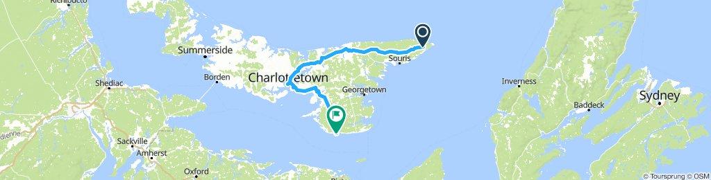 PEI - Elmira to Charlottetown to Wood Island