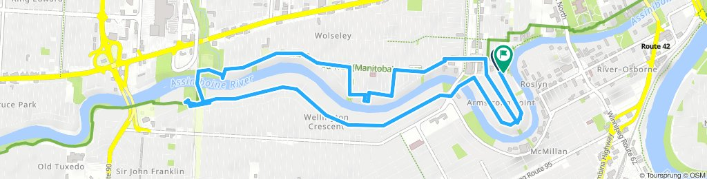 Lengthy Evening Track In Winnipeg