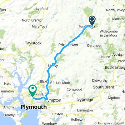 11.8. Postbridge - Plymouth