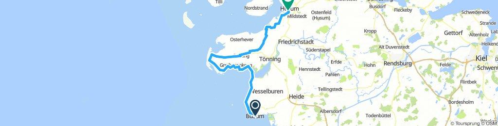 Extensive Montag Route In Büsum
