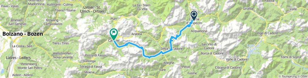 Tappa 10 Cortina d'Ampezzo-Canazei