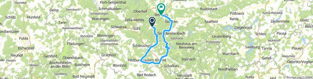 2018-06-09: Bhf Rennsteig - Werra-Quelle
