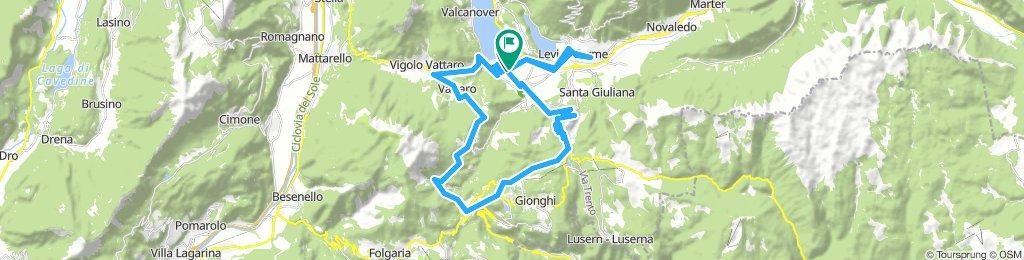 50 km Caldonazzo ab Campingplatz über Kaiserjäger, Vigolo Vattare