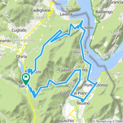 Ganna - Passo del Tedesco - Besano - Porto Ceresio - Brusimpiano - Marzio (Varese)