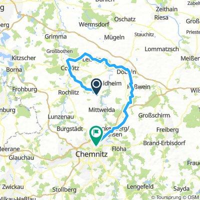 Schweikershain - Colditz - Döbln - Hainichen - Chemnitz