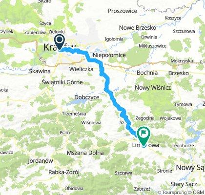 stage_1_Krakow-Limanowa_route