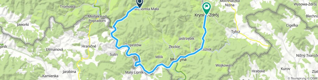 stage_3_Wierchomla-Krynica_route