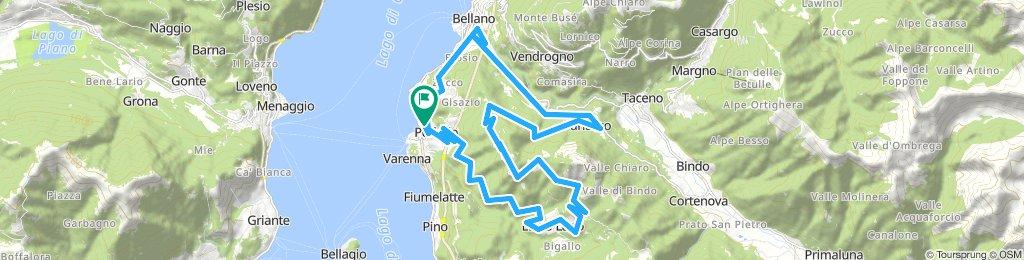 Varenna, Como - rute A - 34 km