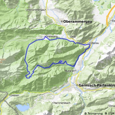 Oberau - Enningalm - Oberau