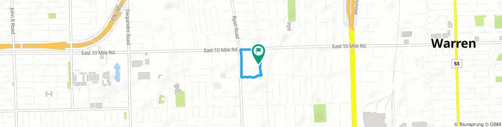 Slow Thursday Route In Warren