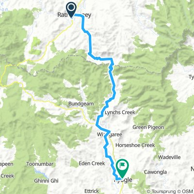 Rathdowney to Kyogle
