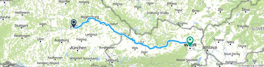 Ingolstadt-Wien along the Danube