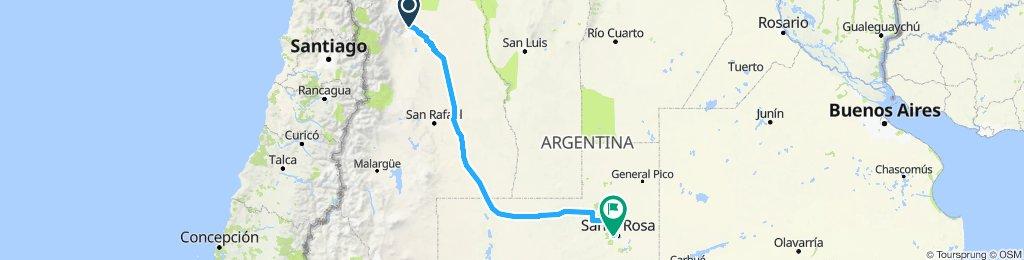 Mendoza - Toay ( La Pampa )