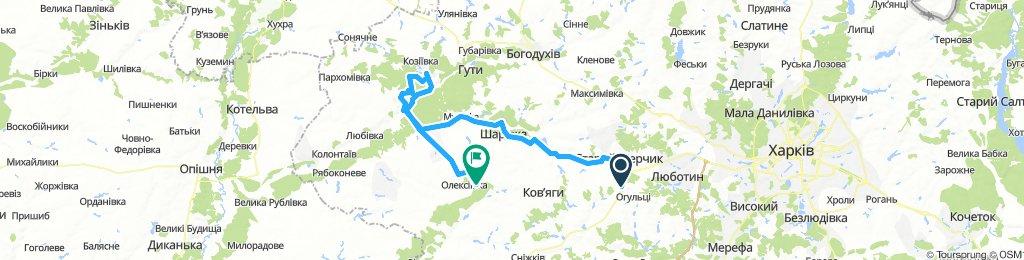 Огульці-Старий Мерчик (замок)-Краснокутськ (парк)-тераси-Водяне