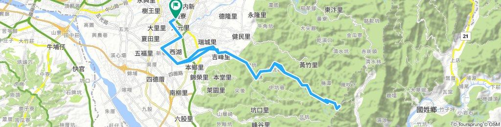 (林桐霧峰奧山登頂挑戰)大里健康公園-大里溪自行車道-吉峰-桐林-霧峰奧山-山頂-大里健康公園