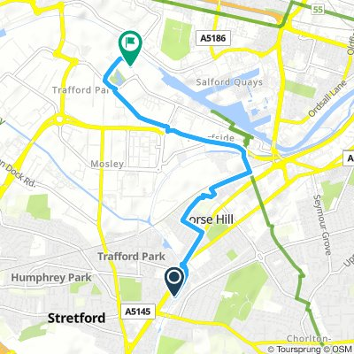 Spred Out Morning Route In Manchester