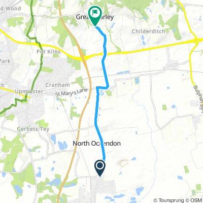 Easy Saturday Ride In South Ockendon